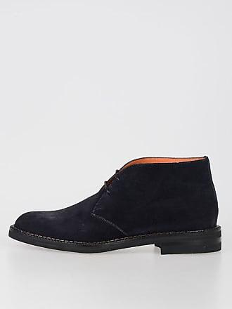 6 Suede Shoes Leather Size Santoni 7g6yfYb