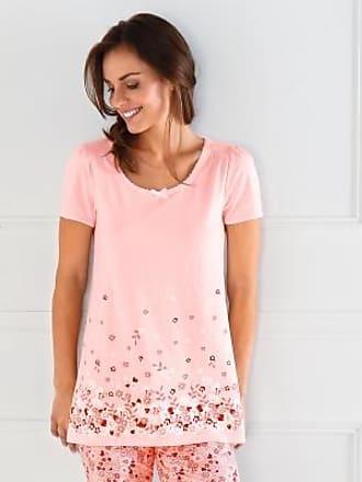 Tee Blancheporte shirt Courtes Manches Fleurs Rose Imprimé rrdnaF