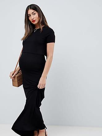 Maternity Design Capa Asos Largo Con De Vestido Lactancia Doble dx6PxBS