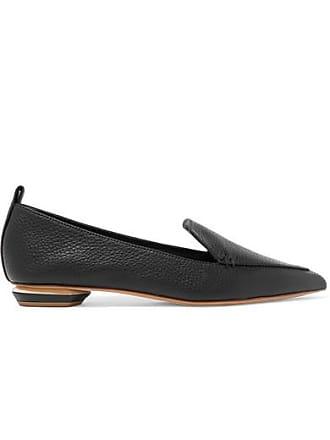 Nicholas Texturé Pointus En Cuir Noir Kirkwood Bouts Plates À Chaussures Beya rCxr8wqS