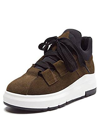 Lace Casual Nubuck Uk up In Thick Bottom Womens Shoes Meijili 4 Flat Increased Khaki Doris Sports roeCWdxB