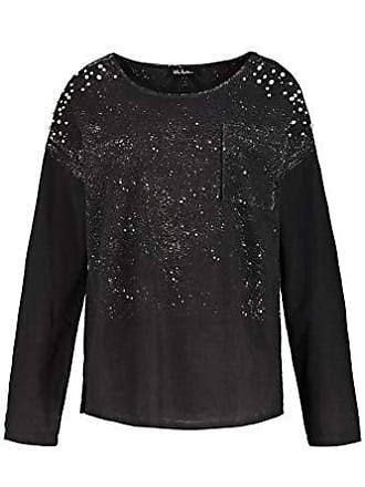 10 Del schwarz Negro Mit Sweatshirt Sudadera Colddye Fabricante Mujer Perlen 54 talla Ulla Popken Para 56 AH4xvv
