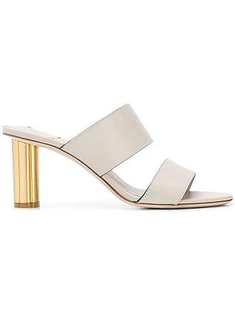 Sandals Heel Blanc Salvatore Flower Ferragamo tRq4U4
