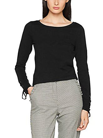 Esprit 097ee1k024 Para black Small Camiseta Mujer Negro 001 rrxZqw