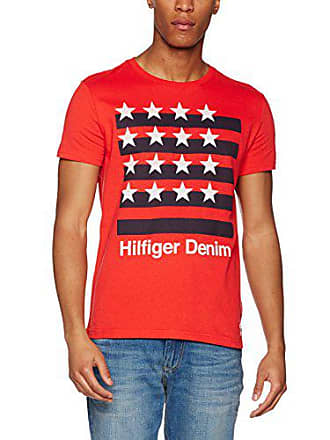 S Cn Risk Courtes Rouge Tommy T Jeans 32 Homme high Manches Red shirt Large s xXEqTR7w