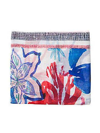 Fabricante Del Foulard carmine blue Rojo Mujer talla 3000 Única U Flower Bufanda Desigual Para 17PqPw