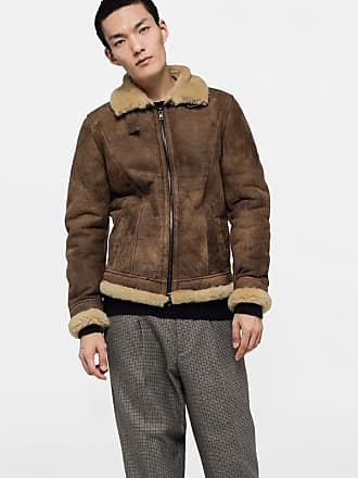 Brown Giocasta Leather Geto Jacket In CxBoed