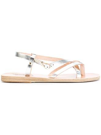 Greek Sandals Flat Metallic Ancient Semele PZdwCqwB