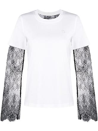 Philosophy shirt Blanc Serafini panelled Lace Lorenzo T Di 6rC6xqpwZ