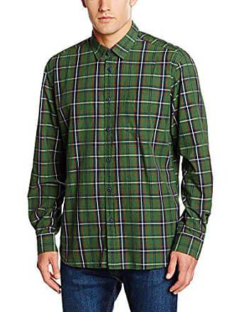 Khaki dark Verde Hombre Esprit Camisa Large Kariert XqPOAwg