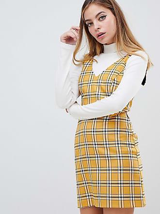 De Selfridge Petite Miss Vestido A Cuadros Amarillo En YwUxS7w