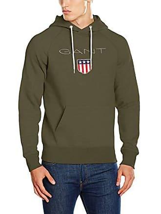 Hoodie Para Gant Verde 342 Green field Shield Hombre Large Capucha RqxFpU5