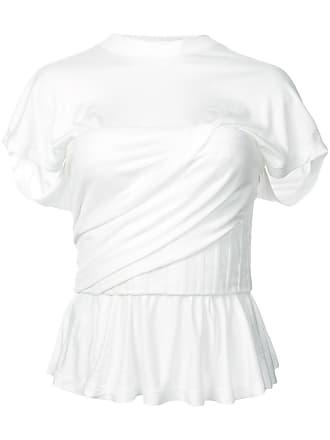 Blanc Péplum Alexander shirt Wang Froncé T qwTSg6