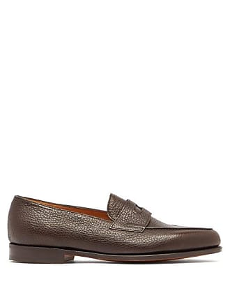 Penny Lopez LoafersMens Lobb John Grained Leather Brown rexBWQEdCo