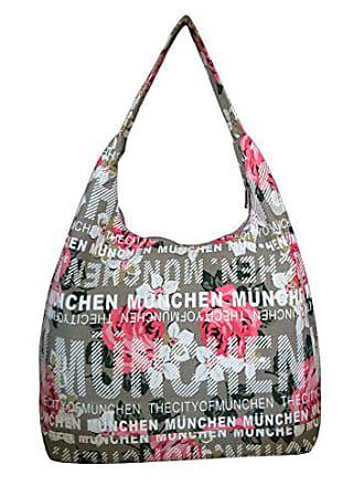 grau Robin Lxhxt Canvas Schultertasche 38x30x17 München maße weiß shopper Cm Flower Ruth SSr40wvq