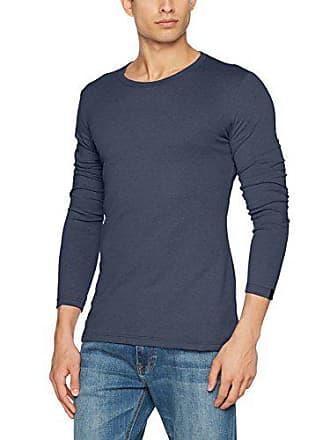 Azul Para Larga Trigema Hombre jeans 643 M De melange 602501 Manga Camiseta RXfq0
