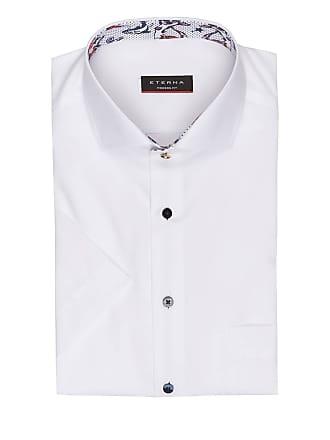 Modern Fit Weiss hemd Halbarm Eterna qEOYvg
