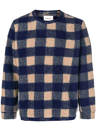 Corelate Sweater Knit Knit Plaid Corelate Plaid Corelate Plaid Sweater Bleu Bleu AEqPw6