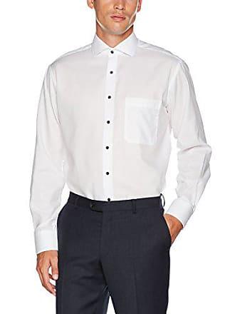 kragen Comfort Strukturiert Langarm Hai Herren Businesshemd Eterna Mit Fit Weiß wEZznq