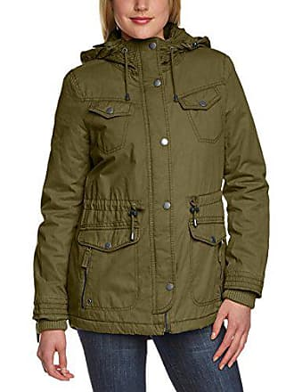 Femme Longues Halifax Manches Vert 40 olive M Fnt Twist Traders taille Fabricant snaps Blouson Fr Hooded R40RFcH