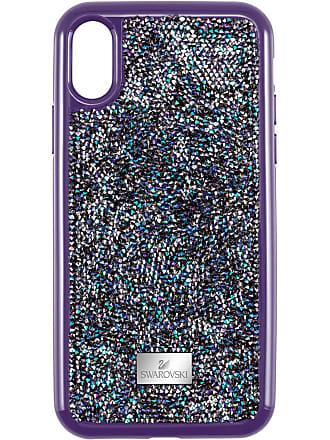 Con Swarovski Funda Rígida Protección Glam RockIphone xsVioleta X Smartphone Para Yfyg67b
