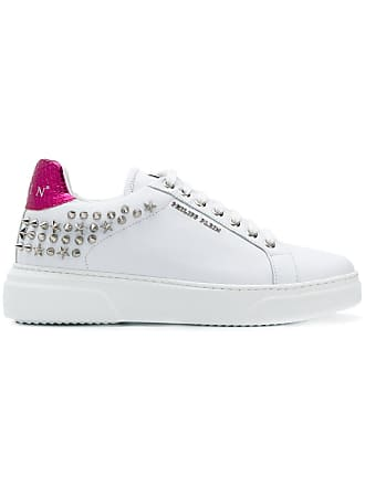Blanc Plein up Studded Lace Philipp Sneakers AqXaOAwd
