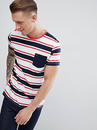 T à Wills Jack Block Rayures shirt rouge Color Marine Navy Bleu Cardell wx1ddUI