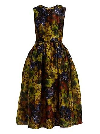 Print Gabbana Multi Dress Dolce Silk Womens Grape Black Organza Midi amp; 5qq4vZt