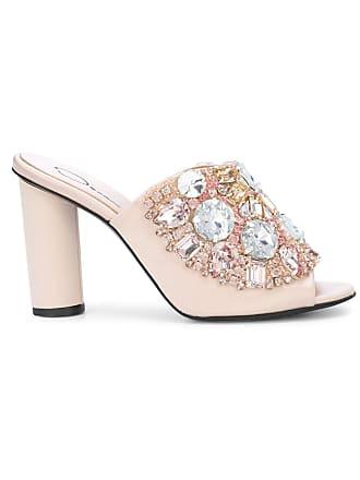 Mules La Oscar Renta Rose Embellished Crystal De Xvqv8