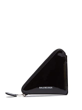 Triangle Balenciaga Coin PurseWomens Patent Leather Black 0PvmNwy8On