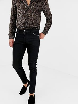 Paspeln Verwaschenem jeans Asos In Skinny Mit Schwarz xpYUq1wR