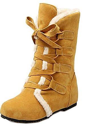 Winter Taoffen Damen Heel Fashion Hidden Boots32asYellow Schuhe Warm Snow VSMpUz