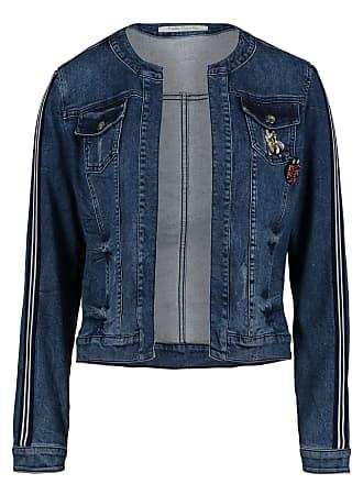 54 Eingrifftaschen Für Cm Damen Langarm Stil Jeansjacke Blau Betty Steppmuster Mit Unifarben Barclay L Barclay XUqUvO