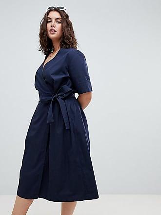 longue En Coton Navy Curve Design Mi Robe Asos coeur Cache qwxTnHYff0