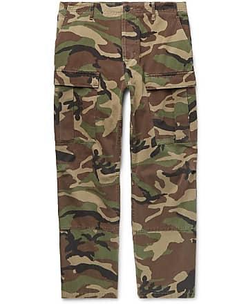Camouflage Cropped Cotton TrousersArmy Balenciaga Cargo print twill Green XkuZPiOT