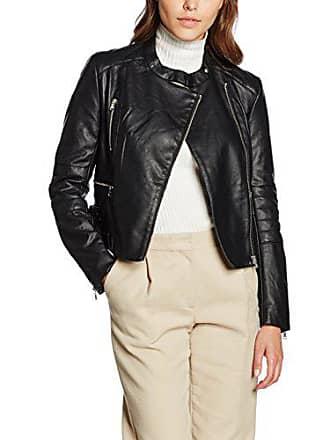 Blouson black Noir Biker 40 Jacket Pu Femme Ls Connection French Decade q78SYz
