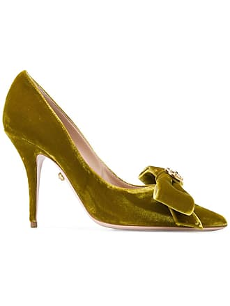 Bow Vert Embellished Fausto Puglisi Pumps w54g5Yq