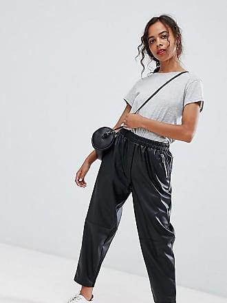 Similicuir Noir Petite Asos Design En Pantalon Fuselé 7qPqvwxUX