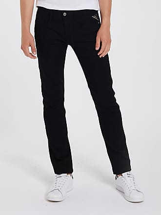 Slim Replay Anbass Jeans Noir Fit dWreBxCo