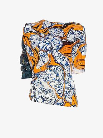 Top Rosie shoulder Blend Off Print Draped Assoulin Silk vwwx0q4aR