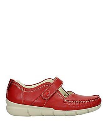 Summer Red Leather Damen Leoa Slipper 1500757 393941 Yukon Rot Wolky 1J3FTlKc