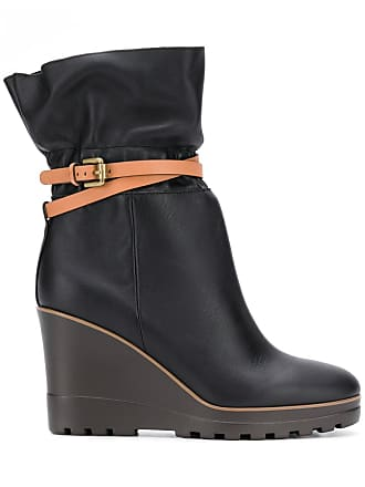 By Belt Chloé Boots See Noir Wrap q1CRnwYd