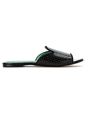 Blue Bird Patent Shoes MulesNoir Leather Woven PXliOkuwZT