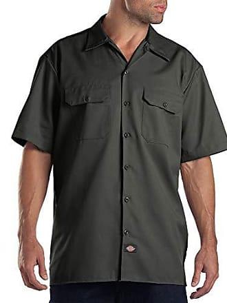 a da Dickies lavoro verde per oliva da lavoro uomo Camicia verde corte maniche L Camicia qgEyc0