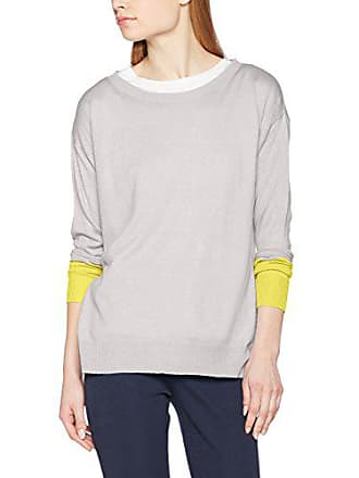 yellow Boxy Benetton Femme Block grey Colour Knit Pull Large Sweater Multicolore ETqZzqwgn