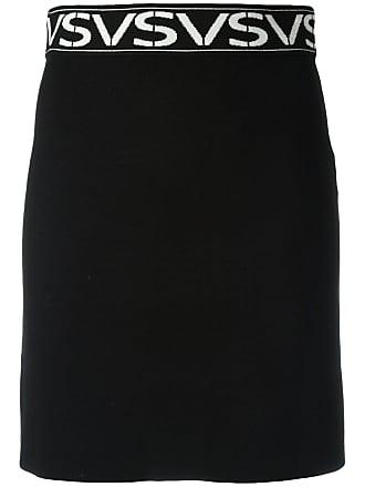 Intarsia Motif Minijupe Noir À Versus qvSWRPqtn
