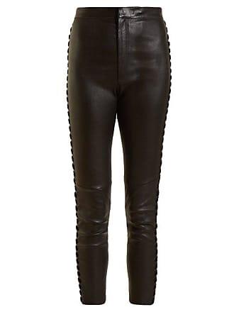 Medley Whipstitch Cropped Leather Seam Marant Black Isabel TrousersWomens XiTZuOPk