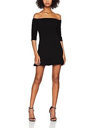 T De 42 black Hem Vestido 1 Fiesta New Bardot Look Negro Mujer Para Flare wZYxq56