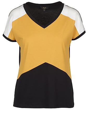 2 Colorblock shirt Col En V 1 Tee 3 Coton AtqwAYd