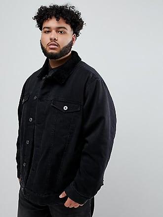 Giacca pelo 03PY pecora Replika colletto nera Plus Nero di jeans in OwRqxAa